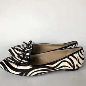Ellen Tracy Alpine Zebra Print Flats